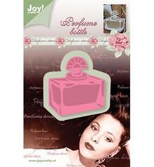 Joy!Crafts und JM Creation Skæring og prægning stencil, rektangel parfume flaske, 53x56mm