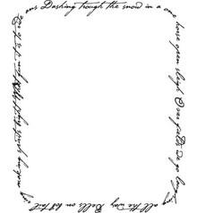 Stempel / Stamp: Transparent Klare frimærker, sne sang