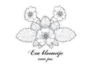 Stempel / Stamp: Transparent Marianne Design klare stempler, Blomst