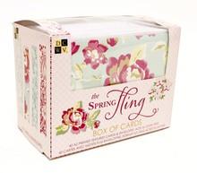 DCWV und Sugar Plum Box of cards Spring fling, DCWV Box of cards Spring fling 10,8X14cm, 40 Karte und Umschläge