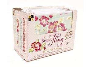 DCWV und Sugar Plum Box of cards Spring fling, DCWV box of cards Spring fling 10,8 x14cm, 40 card and envelopes