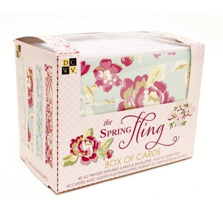 DCWV und Sugar Plum Caja de tarjetas Spring Fling, caja DCWV de tarjetas Spring Fling 10,8 x14cm, 40 tarjetas y sobres