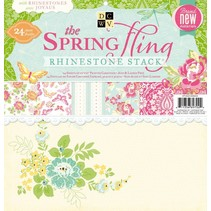 DCWV, Paper stack rhinest. Spring fling, 30,5X30,5cm, 24 Bögen