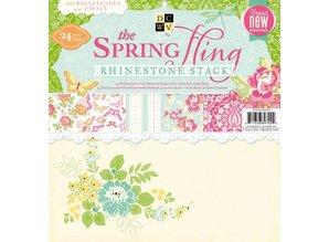 DCWV und Sugar Plum DCWV paper stack rhinest. Spring fling, 30,5 X30, 5 cm, 24 sheets