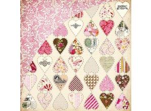 Designer Papier Scrapbooking: 30,5 x 30,5 cm Papier Kissing Booth, Heart breaker, Kis-3554, 30,5 x 30,5 cm