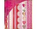 Designer Papier Scrapbooking: 30,5 x 30,5 cm Papier Besar la cabina, Xoxo, Kis-3566, 30,5 x 30,5 cm
