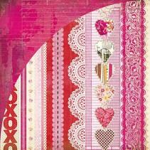 Kissing Booth, Xoxo, Kis-3566, 30,5 x 30,5cm