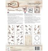 DECOUPAGE AND ACCESSOIRES Círculos Hobby Decoupage, gorriones, 8 Blat A4