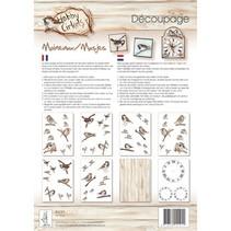 Decoupage Papier, Hobby Circles, Spatze, 8 Blat A4