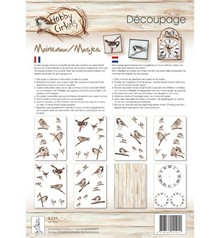 DECOUPAGE AND ACCESSOIRES Decoupagepapir, Hobby Circles, spurve, 8 Blat A4