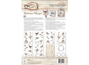 DECOUPAGE AND ACCESSOIRES Círculos Hobby Decoupage, gorriones, 8 Blat A4