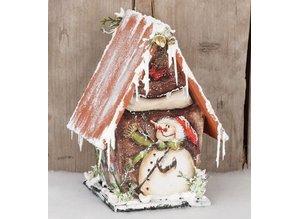 Objekten zum Dekorieren / objects for decorating Birdhouses for decorating, wood, 12.7 x 11.8 x 20cm