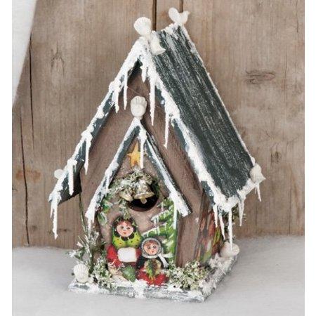 Objekten zum Dekorieren / objects for decorating Birdhouses til udsmykning, træ, 12,7 x 11,8 x 20cm