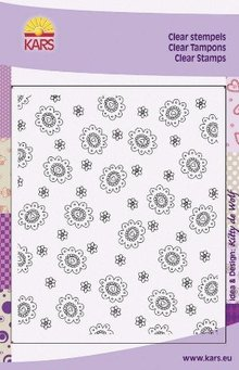 "Cart-Us Transparent background stamp, ""flowers"""