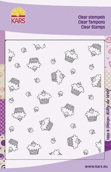 "Cart-Us Transparent background stamp, ""Strawberry Shortcake"""