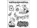 "Viva Dekor und My paperworld Transparent-Stempel, ""Baby-Motive"", MyPaperWorld Silikonstempel Geburt"