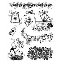 "Clear stamps ""Baby designs"" MyPaperWorld silikone tempel fødsel"