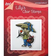 """Joy!Crafts und JM Creation Cancella francobolli, """"Lily con un cesto di tulipani"""""""