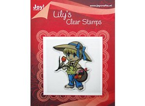 "Joy!Crafts und JM Creation Clear stamps, ""Lily with a basket of tulips"""