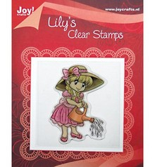 Joy!Crafts und JM Creation Clear stamps, Lily with a watering can