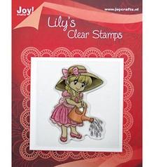 Joy!Crafts und JM Creation Timbri trasparenti, Lily con un annaffiatoio