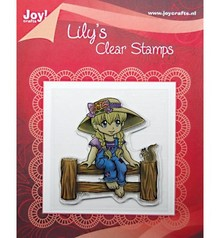 "Joy!Crafts und JM Creation Clear stamps, ""Lily On Fence"""