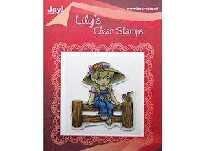 """Joy!Crafts und JM Creation Transparent-Stempel, """"Lily auf Zaun """""""