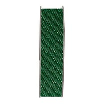 Ribbon, glitter satin, green, 3 meters.