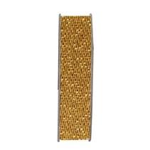 Ribbon, glitter satin, guld, 3 meter.