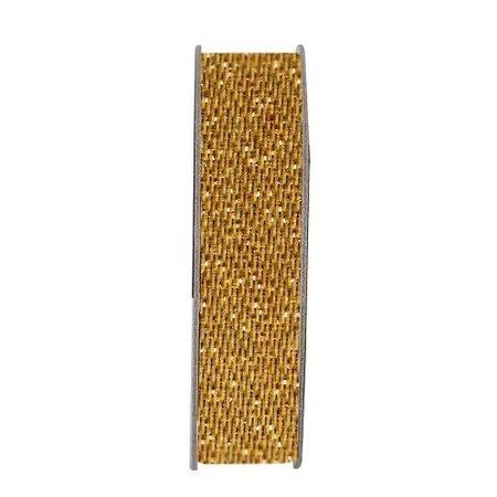 DEKOBAND / RIBBONS / RUBANS ... Paperrmania, Ribbon, Satin Glitter, guld, 3 meter.