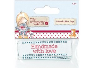 Embellishments / Verzierungen Papermania, Sewn tape labels (10) - Tilly Daydream