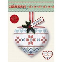 Cross Stitch Heart Decoration Kit - Kerstmis in het Land - Fair Is