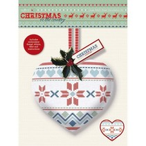 Cross Stitch Heart Dekoration Kit - Christmas in the Country - Fair Er