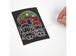 Kinder Bastelsets / Kids Craft Kits Scratch Images, 10x15 cm (A6), 10 stykker