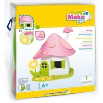 Craft Kit, KitsforKids Foam Mushroom House.