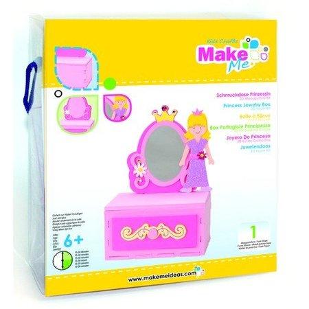 Kinder Bastelsets / Kids Craft Kits Craft Kit, KitsforKids Moosg.3D Prinzess.Schmuckdose.