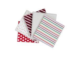 Textil Fabulous Fat Quarters pakke indeholder 5 stykker af 460 x 560mm Fabric