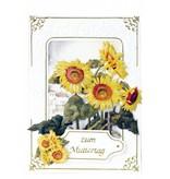 BASTELSETS / CRAFT KITS: Bastelpackung für 3 Blumenkarten