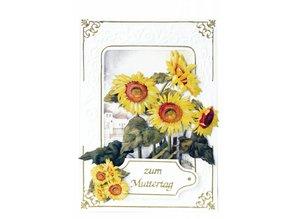 BASTELSETS / CRAFT KITS: Bastelpackung for 3 flower cards