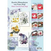 Bastelpackung til 3 blomst cards