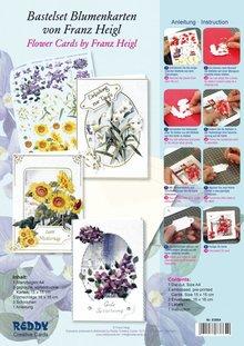 BASTELSETS / CRAFT KITS: Bastelpackung de 3 naipes de flores