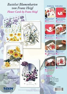 BASTELSETS / CRAFT KITS: Bastelpackung for 3 flower cards