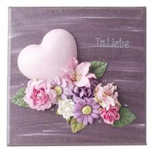 Embellishments / Verzierungen Papir blomster sortiment, pink, lilla, hvid
