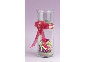 BLUMEN (MINI) UND ACCESOIRES Paper Floral assortment d`rot, red, rosé