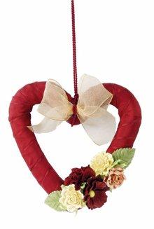 Elisabeth Craft Dies Papir Blomster sortiment d`rot, rød, rosé
