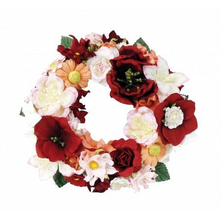 BLUMEN (MINI) UND ACCESOIRES Papir Blomster sortiment d`rot, rød, rosé