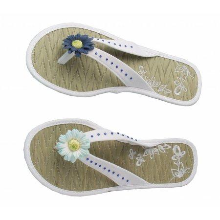 Embellishments / Verzierungen Papir Blomster sortiment, blå, grøn, hvid