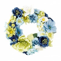 Paper Bloemen assortiment, blauw, groen, wit