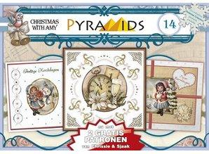 Bücher und CD / Magazines 1 A5 libro pirámide arco 3D, motivos navideños 8 hojas DIN A5
