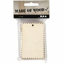 Masa o en forma de corazón de chapa de madera con el borde ondulado